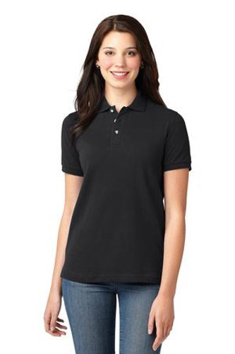 Port Authority Womens Pique Knit Sport Shirt | Black