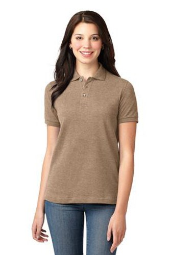Port Authority Womens Pique Knit Sport Khaki Heather Main Image