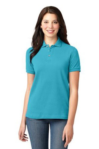 Port Authority Womens Pique Knit Sport Turquoise Main Image