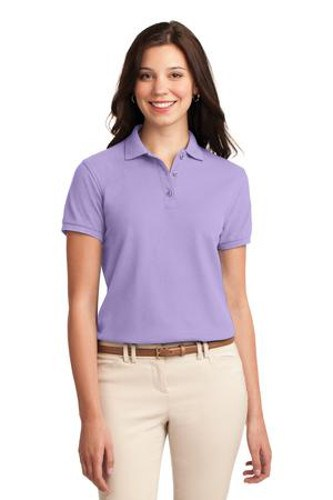 Port Authority Womens Silk Touch Polo Shirt Lavender Main Image