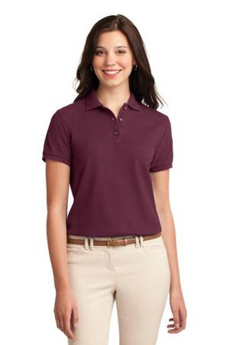 Port Authority Womens Silk Touch Polo Shirt Burgundy Main Image