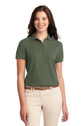 Port Authority Womens Silk Touch Polo Shirt Clover Green Main Image