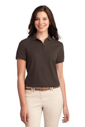 Port Authority Womens Silk Touch Polo Shirt Coffee Bean Main Image