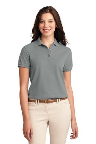 Port Authority Womens Silk Touch Polo Shirt Cool Grey Main Image