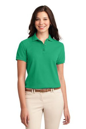Port Authority Womens Silk Touch Polo Shirt Court Green Main Image