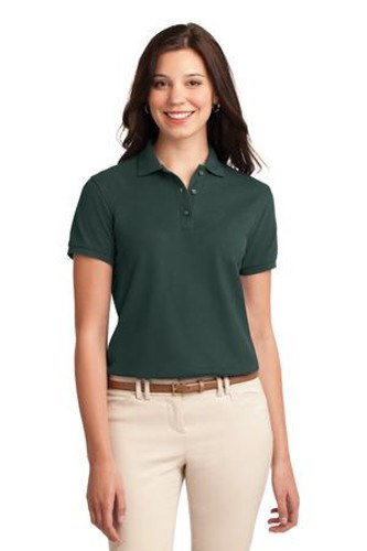 Port Authority Womens Silk Touch Polo Shirt Dark Green Main Image