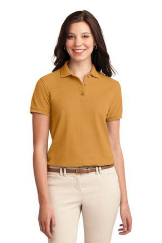 Port Authority Womens Silk Touch Polo Shirt Gold Main Image