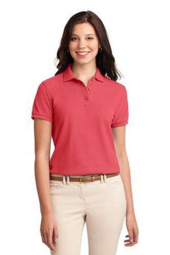Port Authority Womens Silk Touch Polo Shirt Hibiscus Main Image