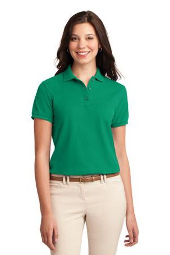 Port Authority Womens Silk Touch Polo Shirt Kelly Green Main Image