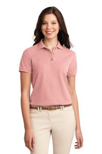 Port Authority Womens Silk Touch Polo Shirt Light Pink Main Image