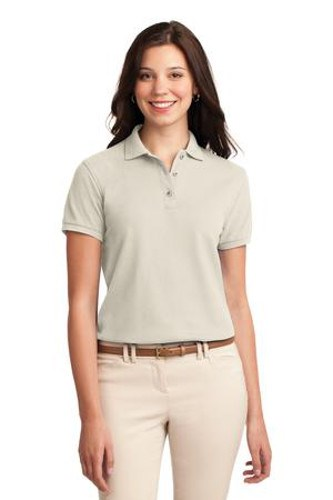 Port Authority Womens Silk Touch Polo Shirt Light Stone Main Image