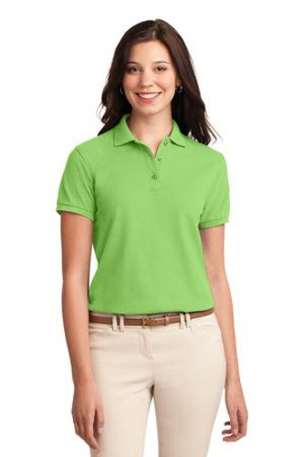 Port Authority Womens Silk Touch Polo Shirt Lime Main Image