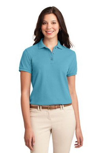 Port Authority Womens Silk Touch Polo Shirt Maui Blue Main Image