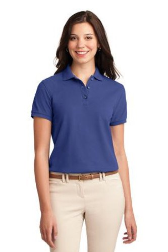 Port Authority Womens Silk Touch Polo Shirt Mediterranean Blue Main Image