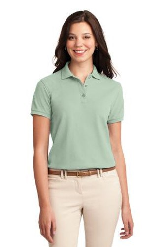 Port Authority Womens Silk Touch Polo Shirt Mint Green Main Image