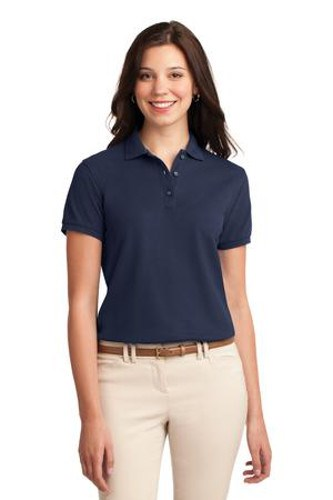 Port Authority Womens Silk Touch Polo Shirt Navy Main Image