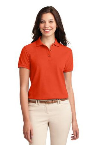 Port Authority Womens Silk Touch Polo Shirt Orange Main Image