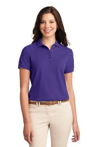 Port Authority Womens Silk Touch Polo Shirt Purple Main Image