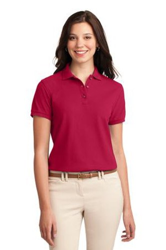 Port Authority Womens Silk Touch Polo Shirt Red Main Image