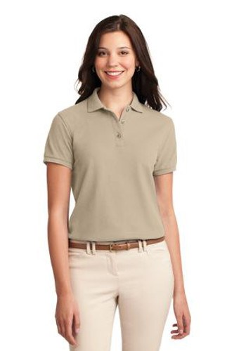 Port Authority Womens Silk Touch Polo Shirt Stone Main Image