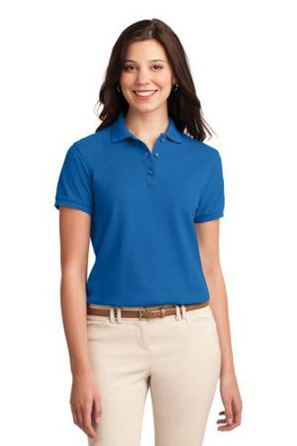 Port Authority Womens Silk Touch Polo Shirt Strong Blue Main Image