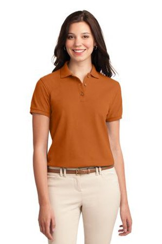 Port Authority Womens Silk Touch Polo Shirt Texas Orange Main Image