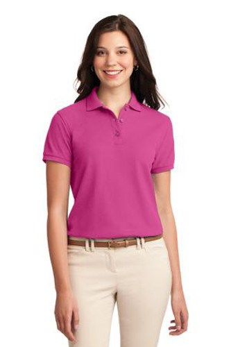 Port Authority Womens Silk Touch Polo Shirt Tropical Pink Main Image