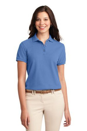Port Authority Womens Silk Touch Polo Shirt Ultramarine Blue Main Image