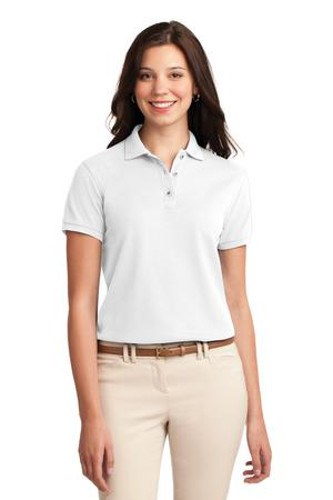 Port Authority Womens Silk Touch Polo Shirt White Main Image