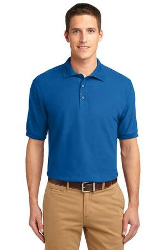 Port Authority Mens Silk Touch Polo Shirt Strong Blue Main Image