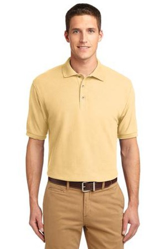 Port Authority Mens Silk Touch Polo Shirt Banana Main Image