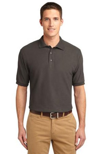 Port Authority Mens Silk Touch Polo Shirt Bark Main Image