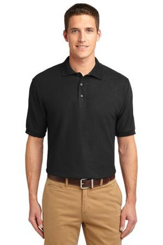 Port Authority Mens Silk Touch Polo Shirt Black Main Image