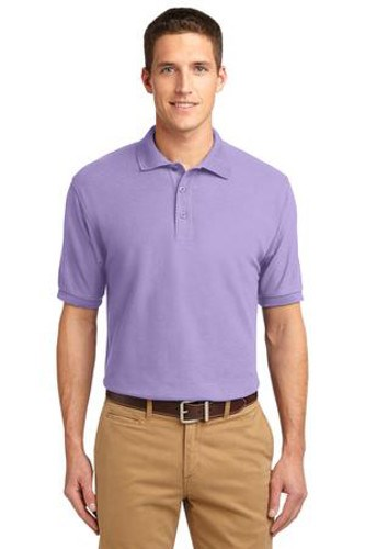 Port Authority Mens Silk Touch Polo Shirt Lavender Main Image