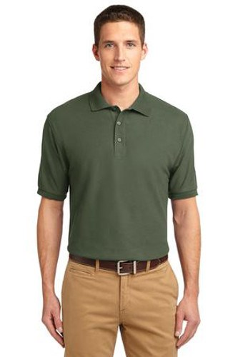 Port Authority Mens Silk Touch Polo Shirt Clover Green Main Image