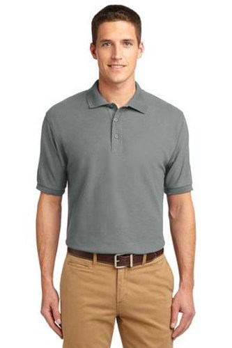 Port Authority Mens Silk Touch Polo Shirt Cool Grey Main Image