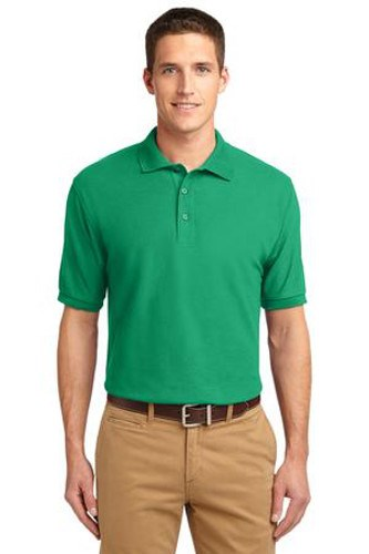 Port Authority Mens Silk Touch Polo Shirt Court Green Main Image