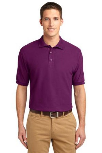 Port Authority Mens Silk Touch Polo Shirt Deep Berry Main Image