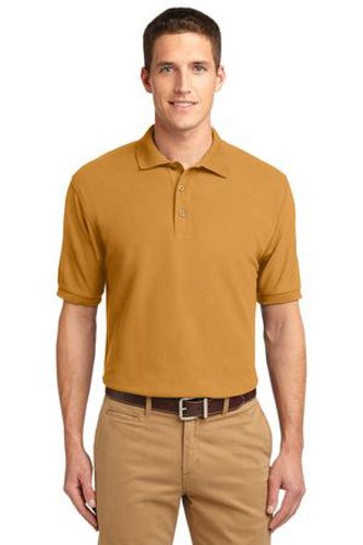 Port Authority Mens Silk Touch Polo Shirt Gold Main Image
