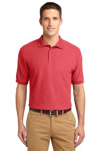 Port Authority Mens Silk Touch Polo Shirt Hibiscus Main Image