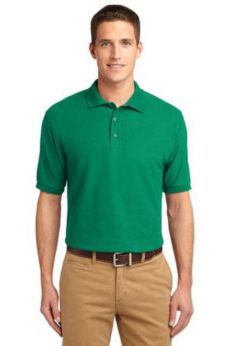 Port Authority Mens Silk Touch Polo Shirt Kelly Green Main Image