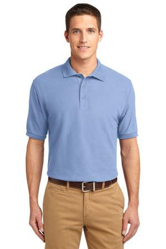 Port Authority Mens Silk Touch Polo Shirt Light Blue Main Image