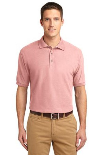 Port Authority Mens Silk Touch Polo Shirt Light Pink Main Image