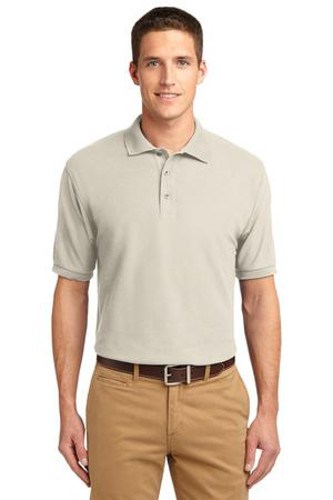 Port Authority Mens Silk Touch Polo Shirt Light Stone Main Image