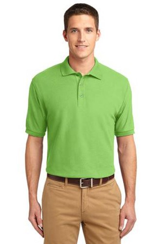 Port Authority Mens Silk Touch Polo Shirt Lime Main Image