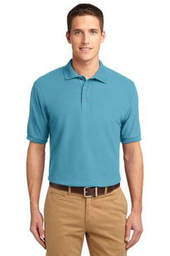 Port Authority Mens Silk Touch Polo Shirt Maui Blue Main Image