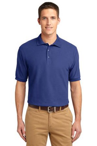 Port Authority Mens Silk Touch Polo Shirt Mediterranean Blue Main Image