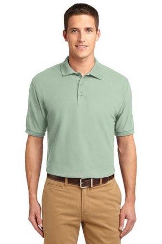 Port Authority Mens Silk Touch Polo Shirt Mint Green Main Image