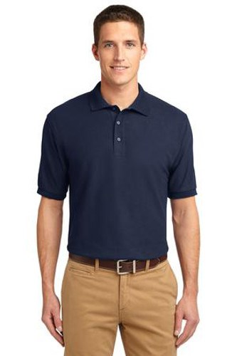 Port Authority Mens Silk Touch Polo Shirt Navy Main Image