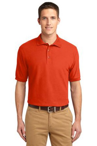 Port Authority Mens Silk Touch Polo Shirt Orange Main Image